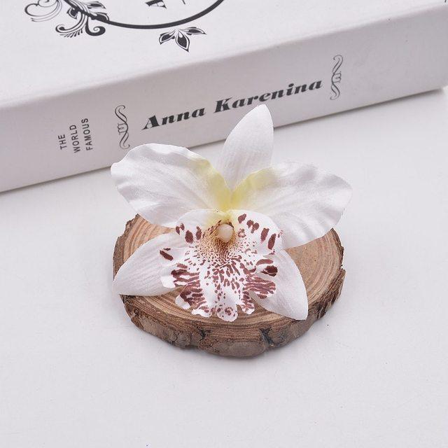 Fleur Gladiolus artificielle orchidée en soie | 10 pièces, pour décoration voiture de Mariage, Orchs Mariage Lily Flores fleurs de Cymbidium