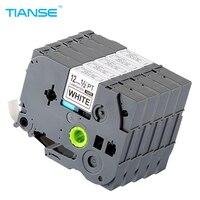 TIANSE 5pcs Tze231 Tz231 For Brother P Touch Printer Label Tape Tze 231 Tz 231 12mm