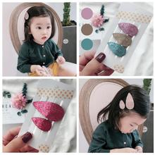 New Toddlers kids girls hair accessories 2-3pcs/lot cute glittery snap clip parent child clips barrette fashion headwear