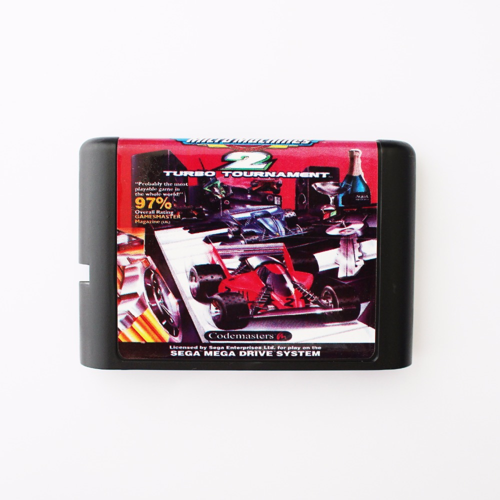 Micro Machines 2 Turbo Tournament 16 bit SEGA MD Game Card For Sega Mega Drive For Genesis