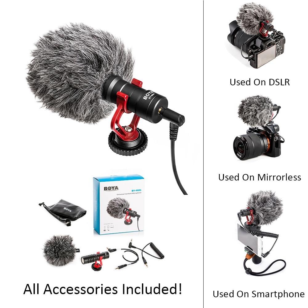 BOYA BY MM1 DSLR MIC Video camera Microphone Youtube