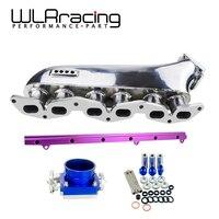 WLR гоночный Впускной коллектор для Toyota supra 1 jzgte 1jz jzz30 турбо входной патрубок + мм 90 мм дроссельная заслонка + Топливная рейка