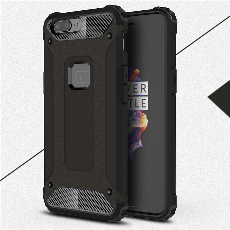 For Oneplus 5T A5010 case cover funda New Luxury Shockproof bumper protect for one plus 5 5T Anti-Shock case back cover coque image