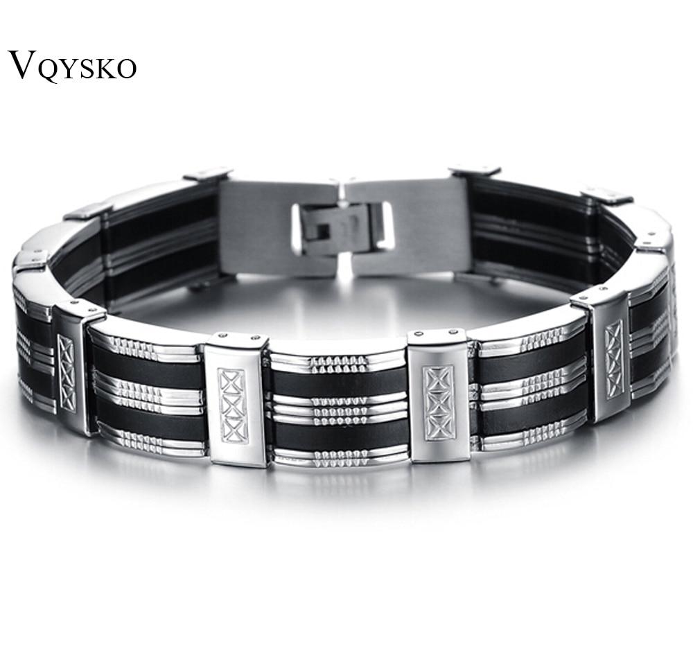 Stainless Steel Bracelet & Bangle 210mm Men's Jewelry Strand Rope Charm Chain Wristband Men's Bracelet