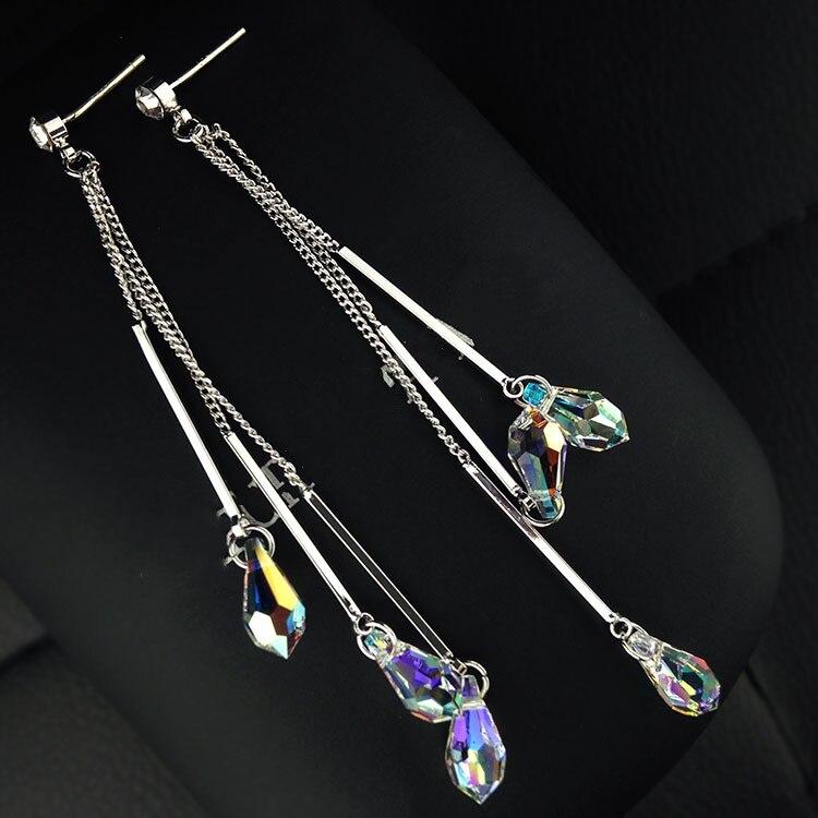 925 sterling silver tassel earrings long earrings long tassel earrings