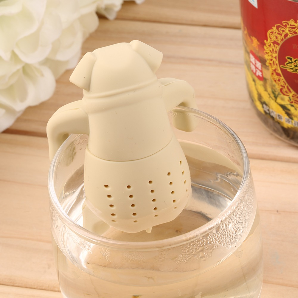 Dog Shape Tea Infuser Loose Leaf Strainer Herbal Silicone Filter Diffuser Brand New