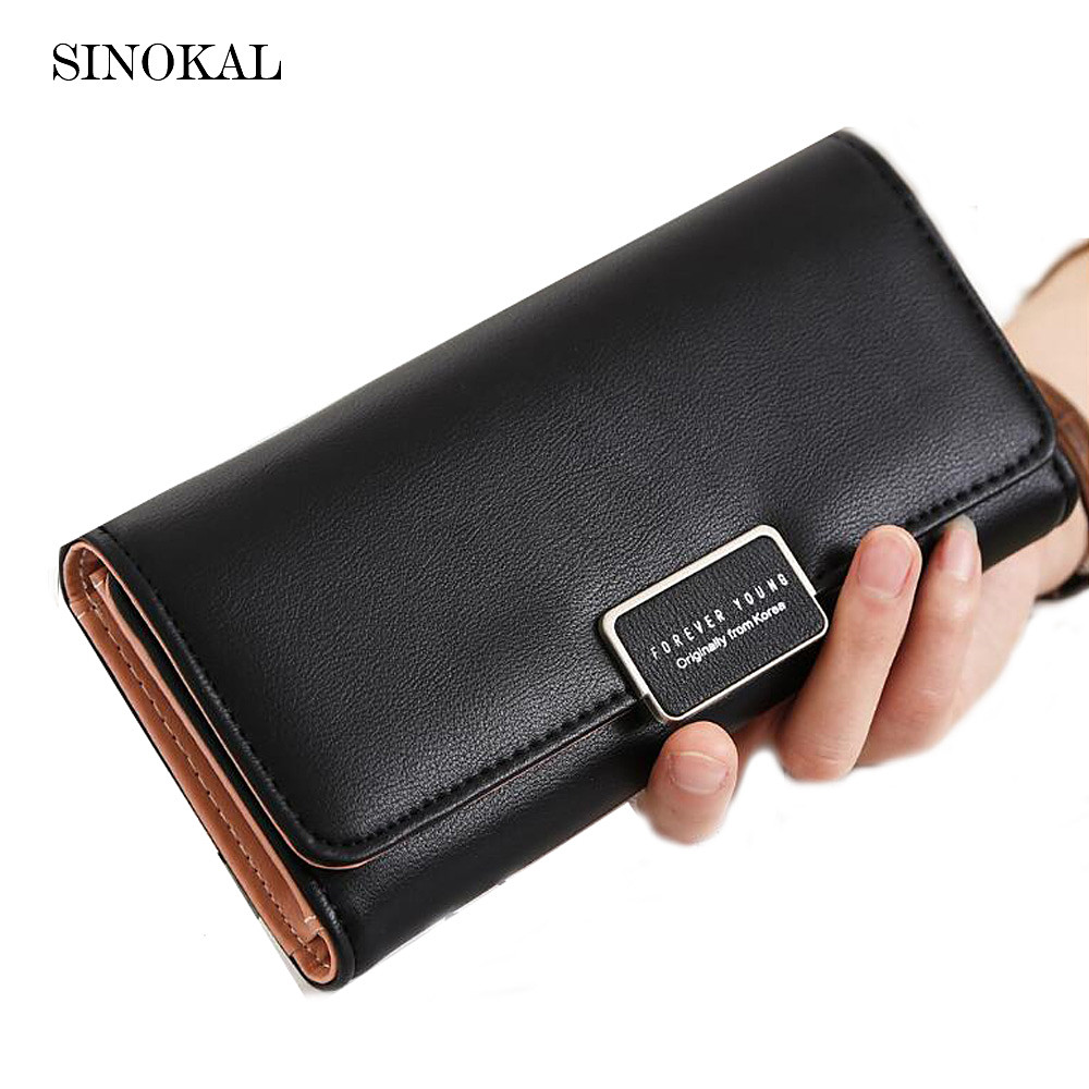 Wallet Leather Purse For Women Long Fashion Women's Wallet Credit Card Holder Phone Holder High Capacity portefeuille femme women purse solid color mini grind magic bifold leather wallet card holder clutch women handbag portefeuille femme dropshipping