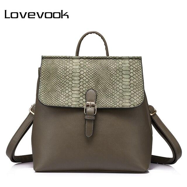 LOVEVOOK бренд женский многофункциональный рюкзак со змеиным принтом, его можно нести на плечо или руках, Новинка 2017