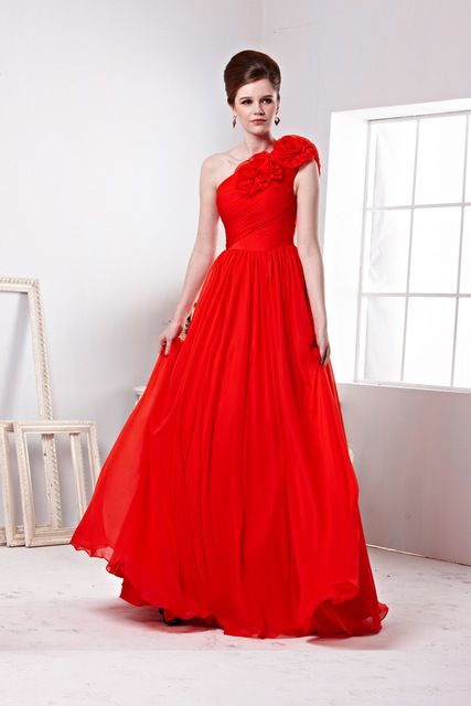 Red Greek-style Evening Dresses