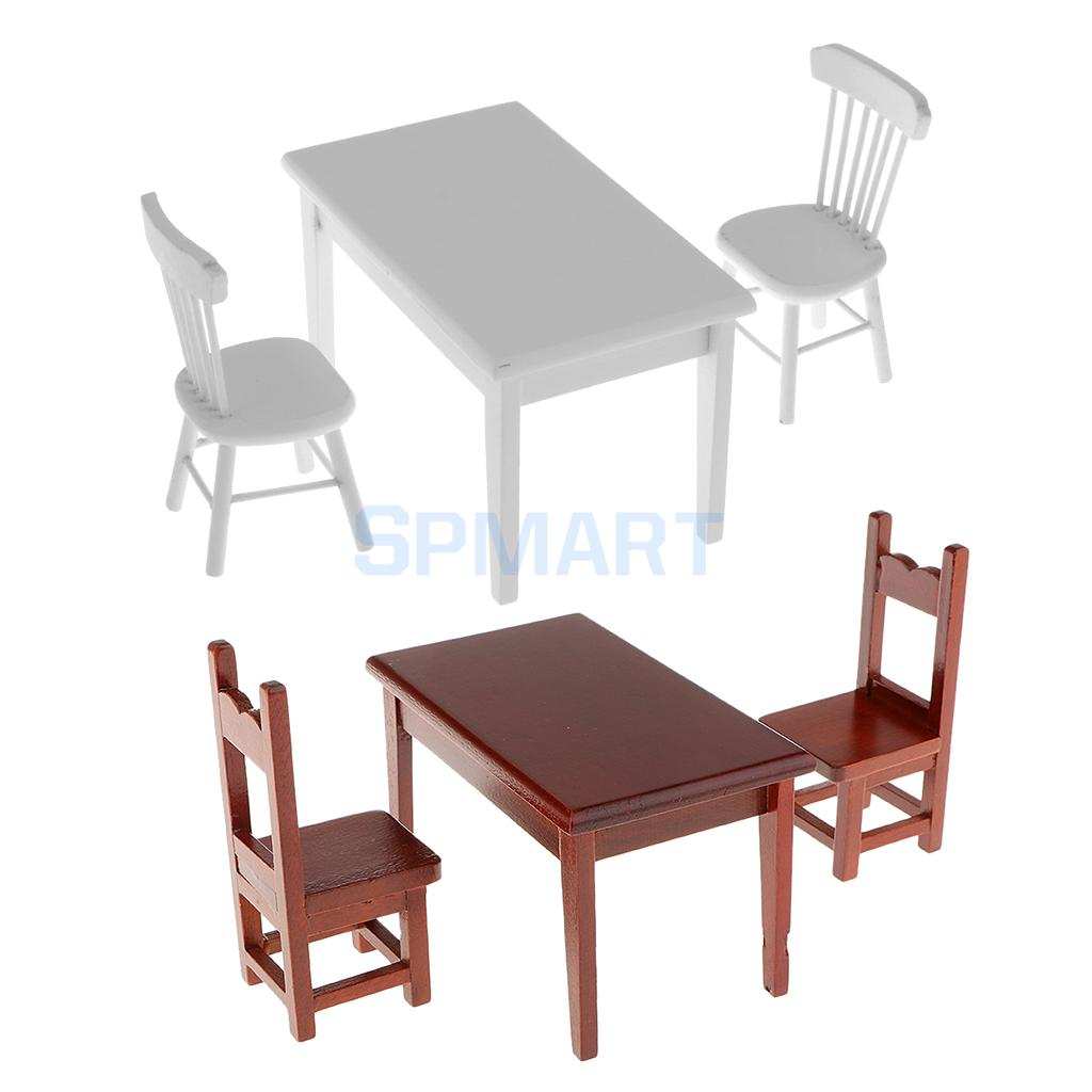 1 12 dolls house miniature furniture wooden dining table for 12 chair dining table set
