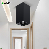 [DBF]LED COB Surface Mounted Downlight Shining Reflector 15W 20W LED Ceiling Spot Lamp Square Black/White Housing Indoor Lights