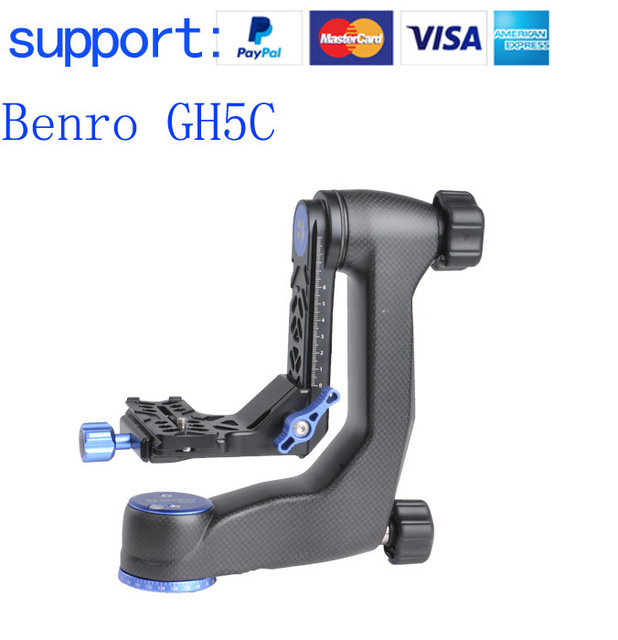 Benro GH5C Carbon Fiber Gimbal Head with PL100 Plate Bird watching PTZ Max Loed:25 kg the ptz handheld unit carbon fiber for align g3 gh g3 5d aerial triaxial gimbal