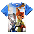 New Zootopia Boys T-Shirts Summer T-Shirts For KIds Cartoon 100% Cotton Boys Tee Tops Clothes 3-12 Years old Children Clothing