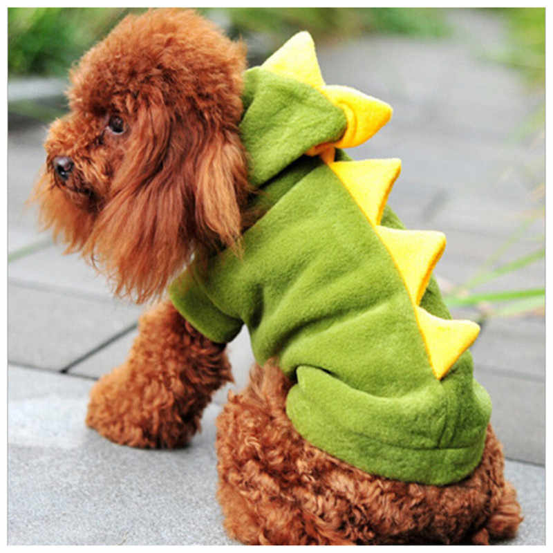The Warm Dinosaur Clothes Pet Dog Costume Suit Halloween Dragon Clothing For Cat Halloween Costume Dog Animals Clothes Hoodie Co