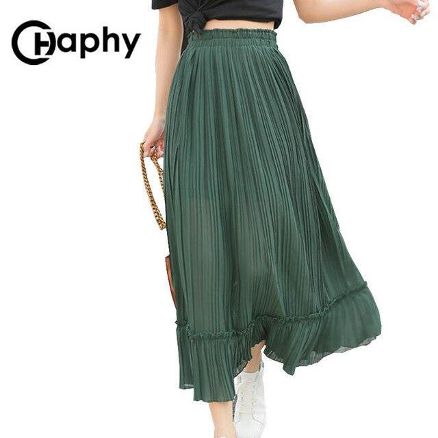 юбка плиссе юбка шифон пышная юбка юбка с высокой талией юбки 2017 женская юбка юбка длинная пышная юбка юбка шифон летние юбки макси юбка
