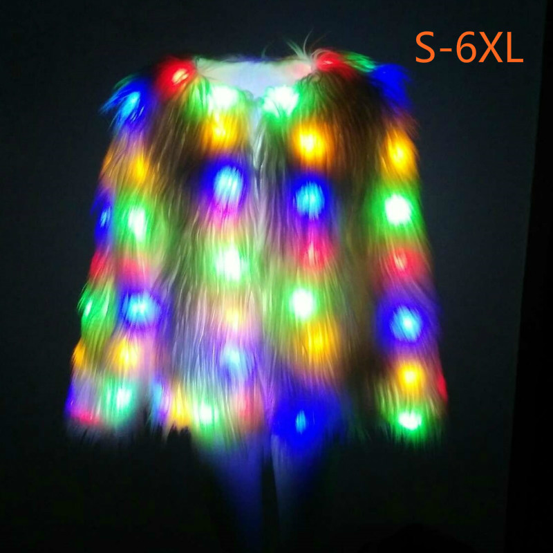 цена на Colorful Maternity Clothing LED Coat Luminous Clothes Light Shining Glow In The Dark Fashion Cool Christmas Eve Halloween Party