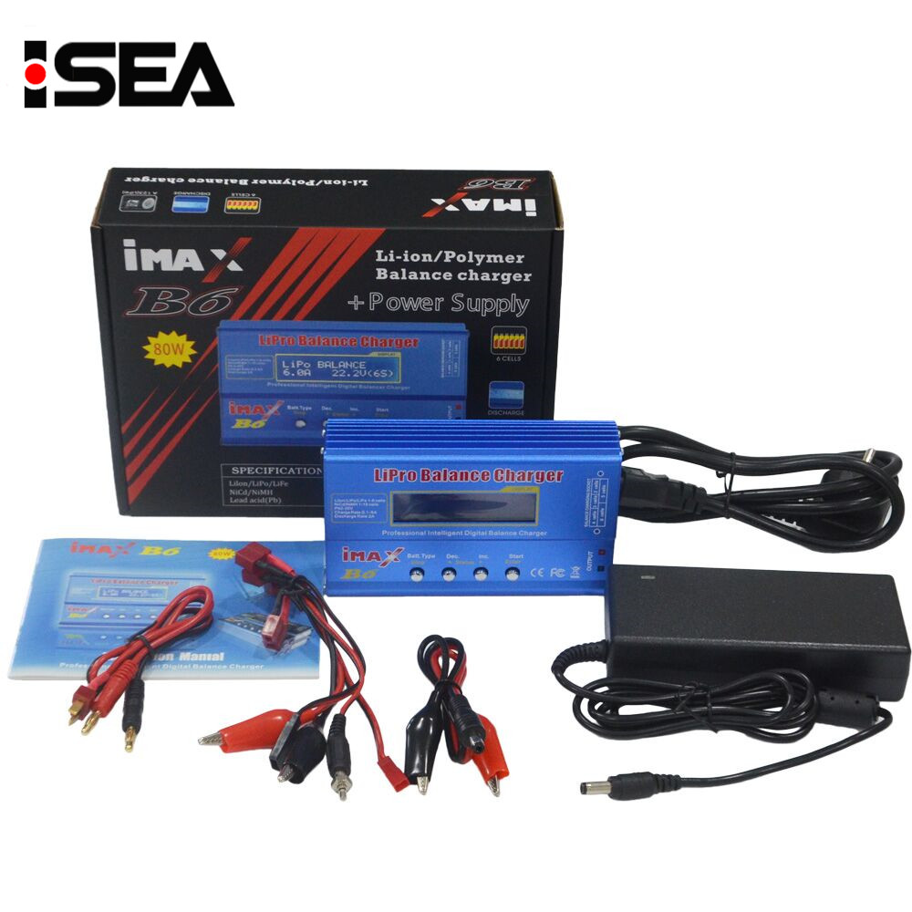 IMAX B6 80 W 15 V 6A RC Solde Chargeurs Déchargeurs Lipo NiMh Li-ion Ni-cd Batterie Chargeur Avec AC Power Adapter