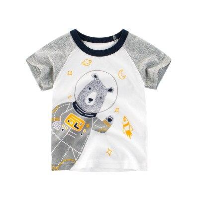 Loozykit/Летняя детская футболка для мальчиков футболки с короткими рукавами и принтом короны для маленьких девочек хлопковая детская футболка футболки с круглым вырезом, одежда для мальчиков - Цвет: Style 12
