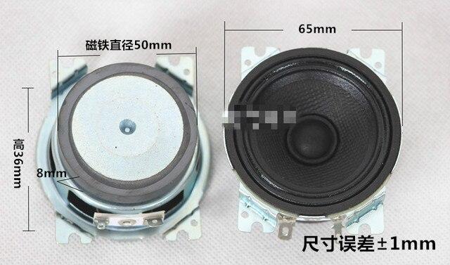2pcs 2.5 inch 4 Ohm 20W magnetic speakers louderspeaker surround