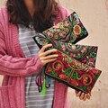 Bolso de las mujeres Bolsos de Verano de Algodón Bordado Monedero de la Moneda Del Teléfono Del Embrague Bolsa Borla Pequeña Floral Femenino Venta Carpeta Ocasional de La Vendimia