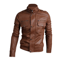 MYPF NWT Premium Men S Slim Top Designed Sexy PU Leather Short Jacket Coat