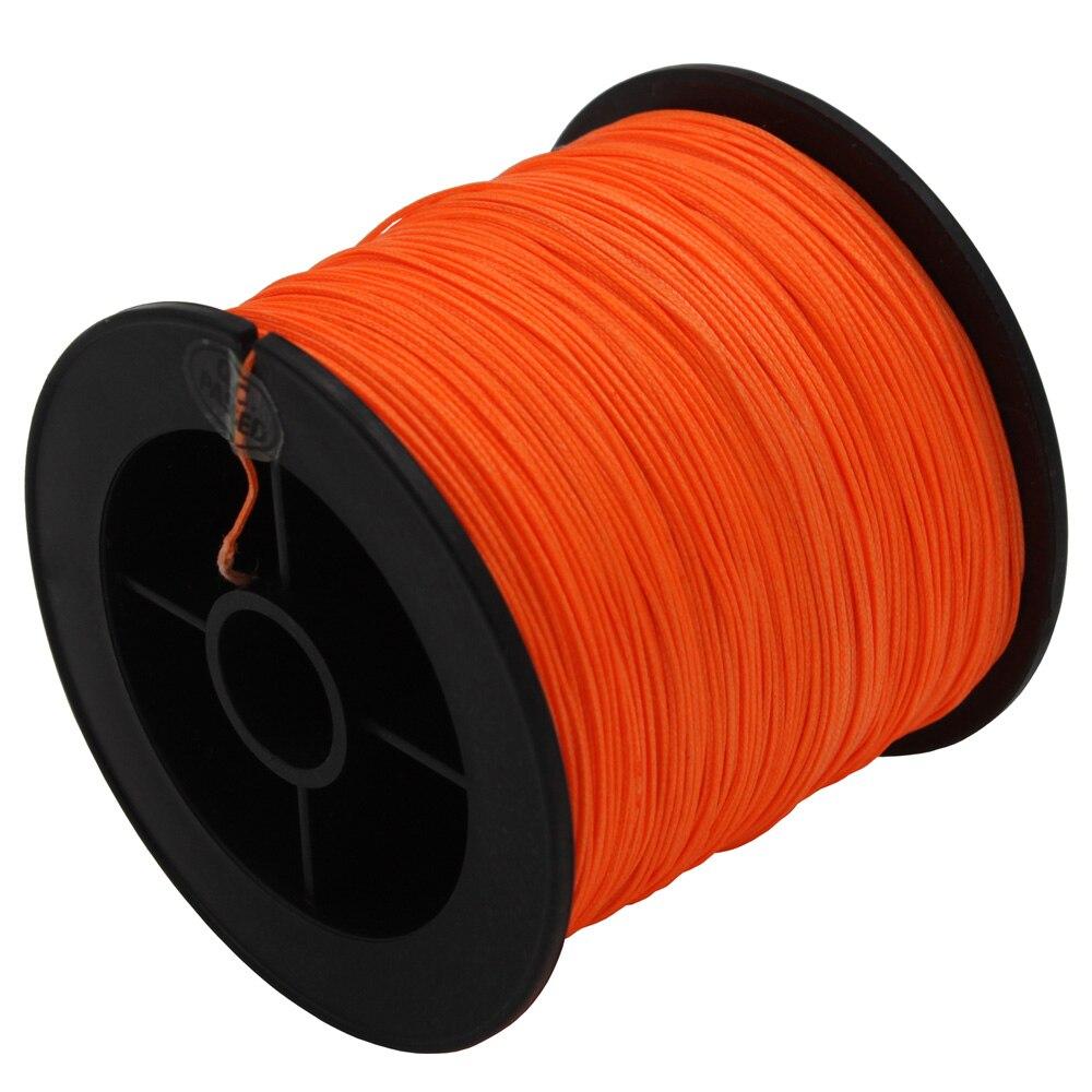 8 strands 100m 300m 500m 1000m 1500m 2000m orange braided for Orange fishing line