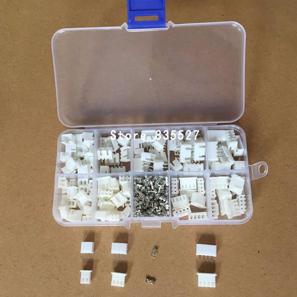320 pcs/lot 60 ensembles/boîte kit 2.54mm XH2.54 2 p 3 p 4 broches connecteur prise + aiguille droite + borne prise en-tête adaptateur de fil Y A S