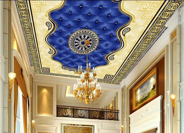Behang Plafond Badkamer : Custom d plafond muurschilderingen behang europese tapijt behang