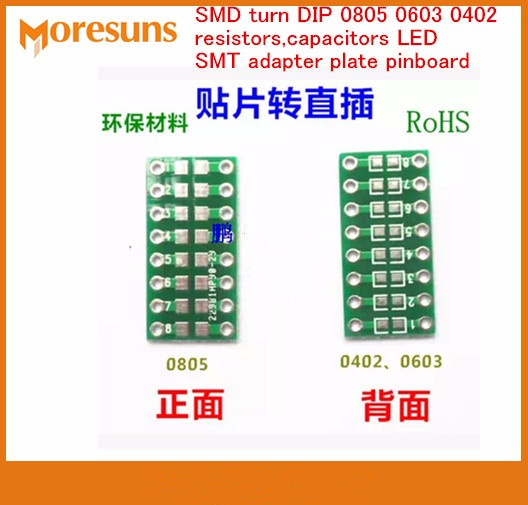 Electronic Components & Supplies Fast Free Ship 100pcs/lot Smd Turn Dip 0805 0603 0402 Smt To Dip Resistors,capacitors Led Smt Adapter Plate Pinboard Excellent Quality