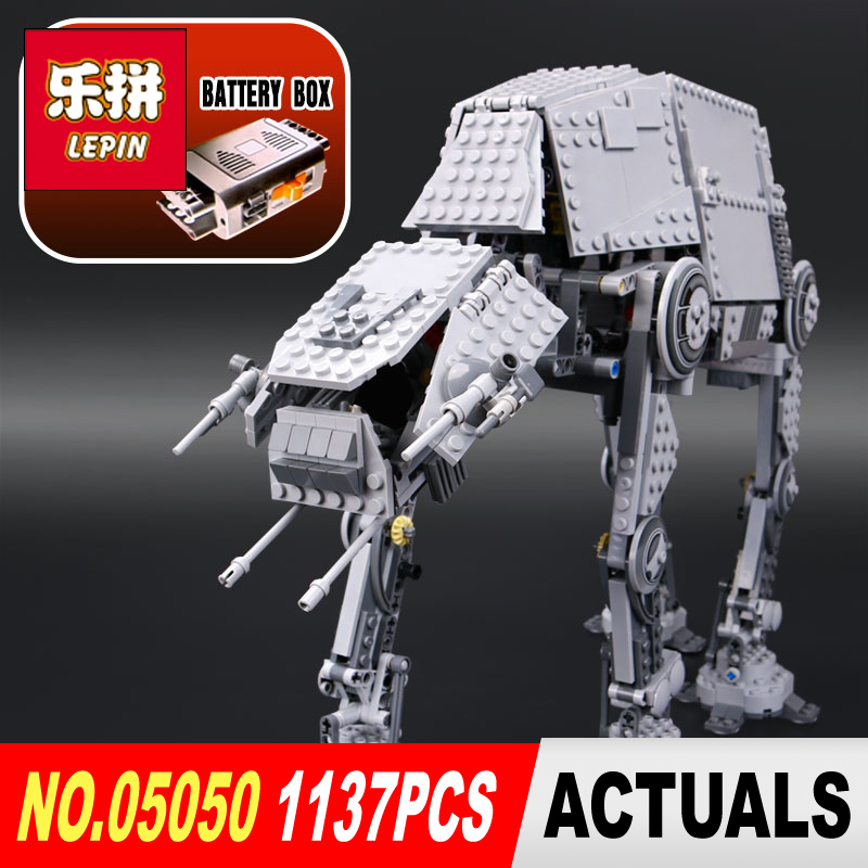 LEPIN 05050 Star Wars AT-AT robot Model Building kits blocks diy bricks legoINGlys 10178 Toys for Boys Gift educational toys star wars boys black