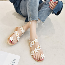 Flower Sandals Womens Flat Shoes 2019 Summer New Wild Roman Fairy Women