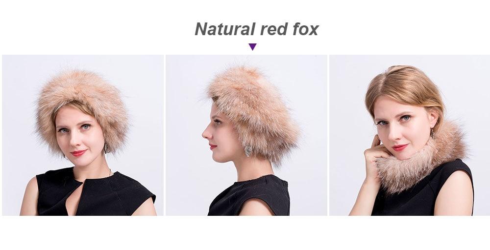 fox fur headband color 2