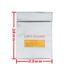 230x300x6mm 2pcs 2016 New RC LiPo Li-Po Battery Fireproof Safety Guard Safe Storage Bag Charge Charging Sack 5J9O