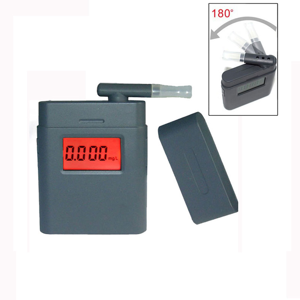Prefessional Breath Alcohol Tester LCD Digital Breathalyzer with 5pcs Rotating Mouthpiece Alcohol Detector Alcotester(China (Mainland))