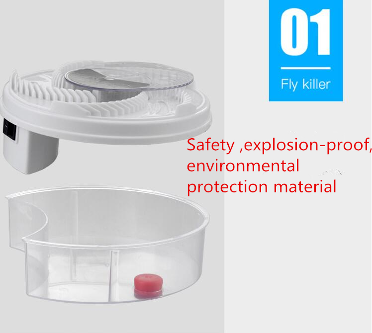 White USB Cable Useful Electric Fly Trap Device with Trapping Food