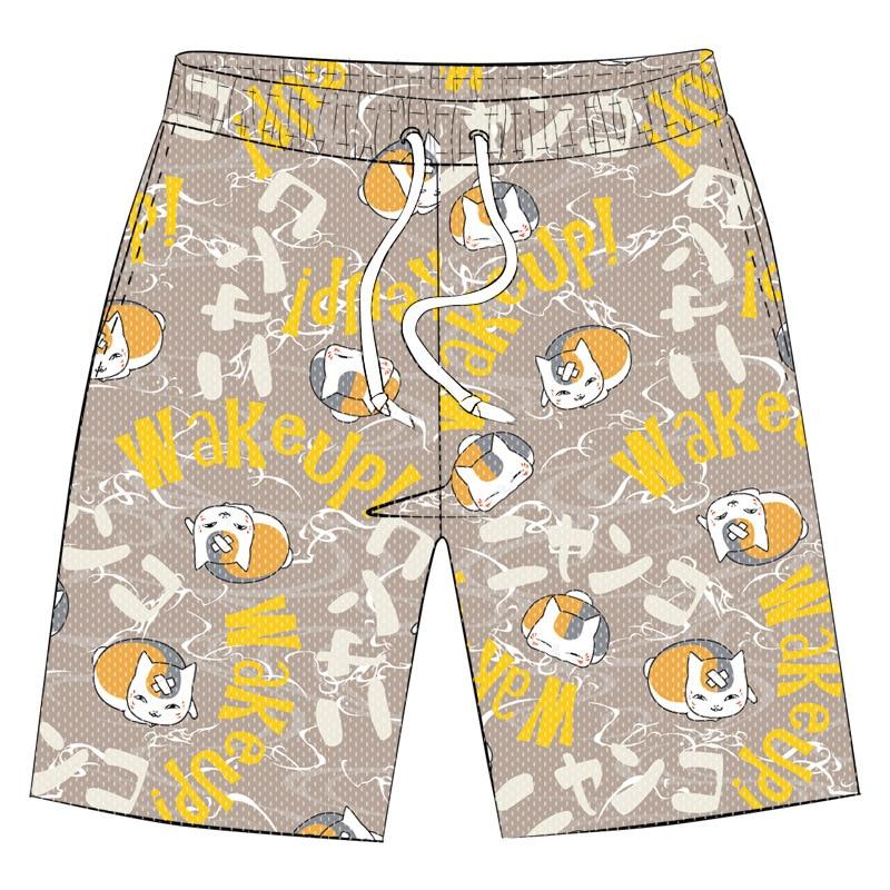 Summer Casual Shorts Anime Natsume Yuujinchou Natsume Yuujinchou Cosplay Costume Beach Shorts Pants Unisex Swim Casual Funny
