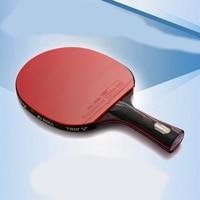 Professional Nanometre Carbon Fiber Table Tennis Bat Racket Long Short Handle Ping Pong Paddle Racket High Level Competition