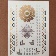 Fashion Metallic Temporary Tattoo Snowflake And Bracelet Gold Tatoo Sticker Gold Tattoos