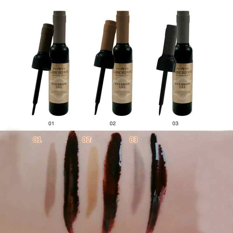 1 個眉毛ゲル黒コーヒーグレー皮アイ眉タトゥー眉毛ゲル化粧品女性のための高顔料メイク