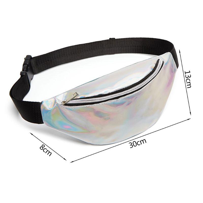Womens PVC Transparent Waterproof Laser Waist Bag Beach Pack Hologram Fanny Pack