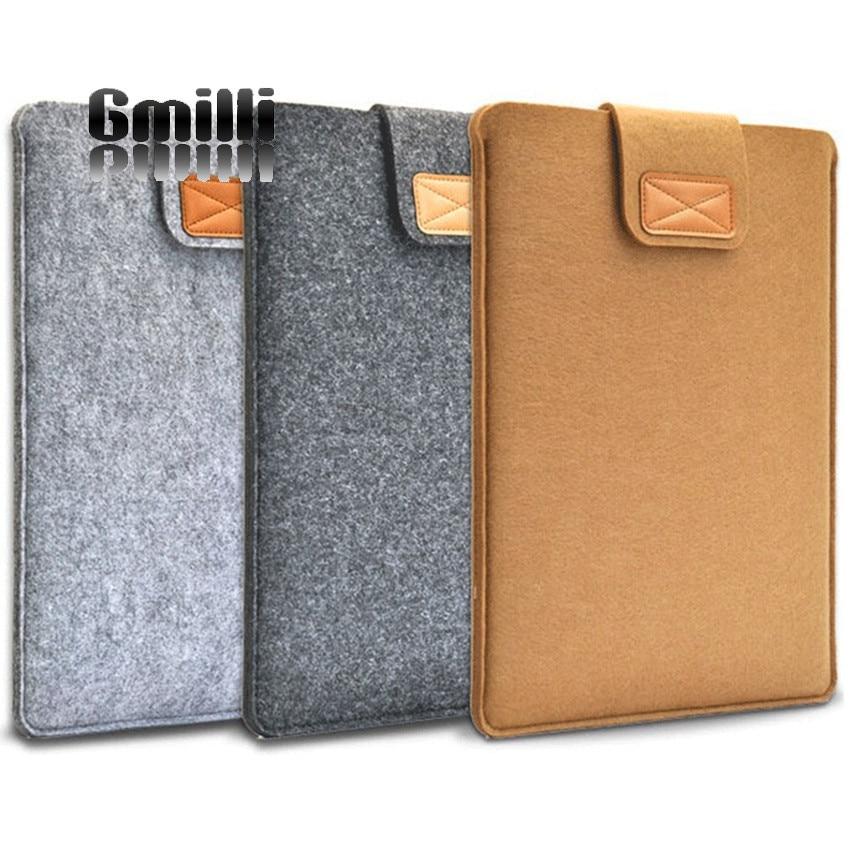Unisex Woolen Felt Protective Laptop Bag/Sleeve For Apple Macbook Air Pro Retina HP Dell Laptop Ultrabook Notebook Case Cover