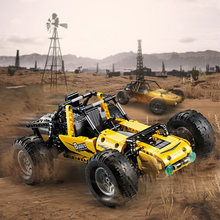 522PCS RC Buggy Car Off-road vehicle Building Block set Rubber Wheel Brick Compatible Legoes Technic Series PUBG Game Toys Gift(China)