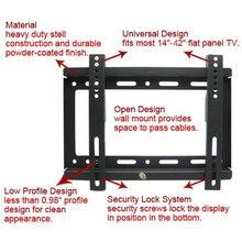 Лидер продаж! Универсальный ТВ кронштейн для крепления к стене для большинства 14 ~ 42 дюймов HDTV Панель TV