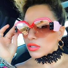 Фотография REALSTAR 2018 Luxury Sunglasses Brand Designer Ladies Oversized Pieces Sunglasses Women Rimless Sun Glasses Female Oculos De Sol