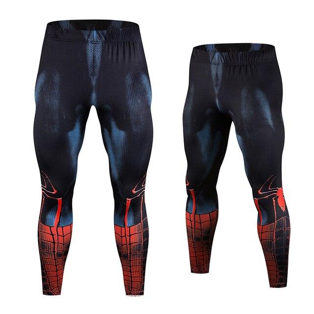 Pantalones de compresión Spiderman para correr mallas para hombre  Pantalones de entrenamiento de fútbol Fitness deporte 27fe2f072cf37