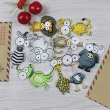 1 pieces Fridge magnet Home Decoration Creative cartoon animal pattern Magnetic sticker Acrylic Refr