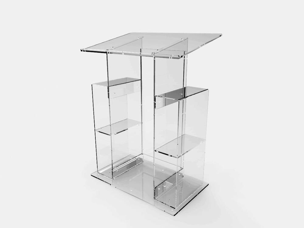 Fixture Displays Deluxe Plexiglass Acrylic Clear Podium Pulpit Lectern