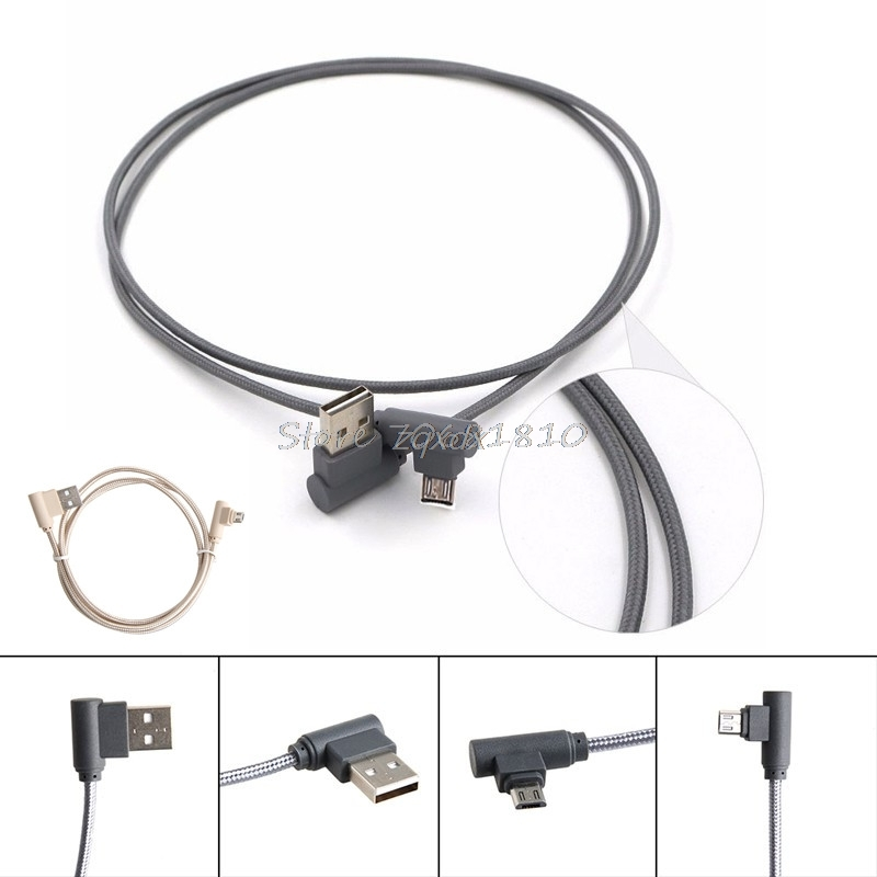 Corner Turn 90 Degree Micro USB 2.0 Male to USB Male Data Sync Charge Cable Cord New Z07 Drop ship 90 degree usb micro usb kabel charge usb to micro usb spring cable data sync charger cord coiled cabo b left for samsung phones