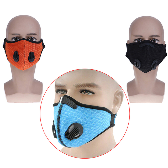 1 шт. фильтр с активированным углем Ветрозащитная маска PM2.5 для защиты от пыли многоцветные маски для лица для велоспорта и пешего туризма