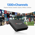 S905X Amlogic Android 6.0 TV Smart Box TV con 3/6/12 Meses Árabe IPTV libre de Subscripción Europa Italia REINO UNIDO DE Cielo Media Player